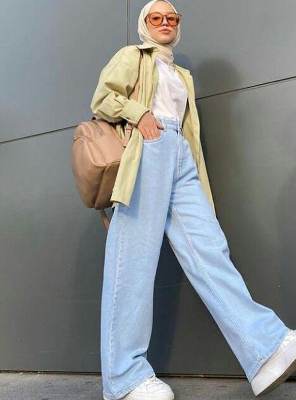 Pantalon en jean a jambes large
