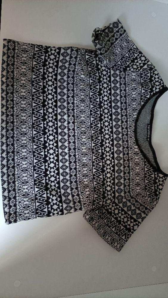 Pull noir et blanc