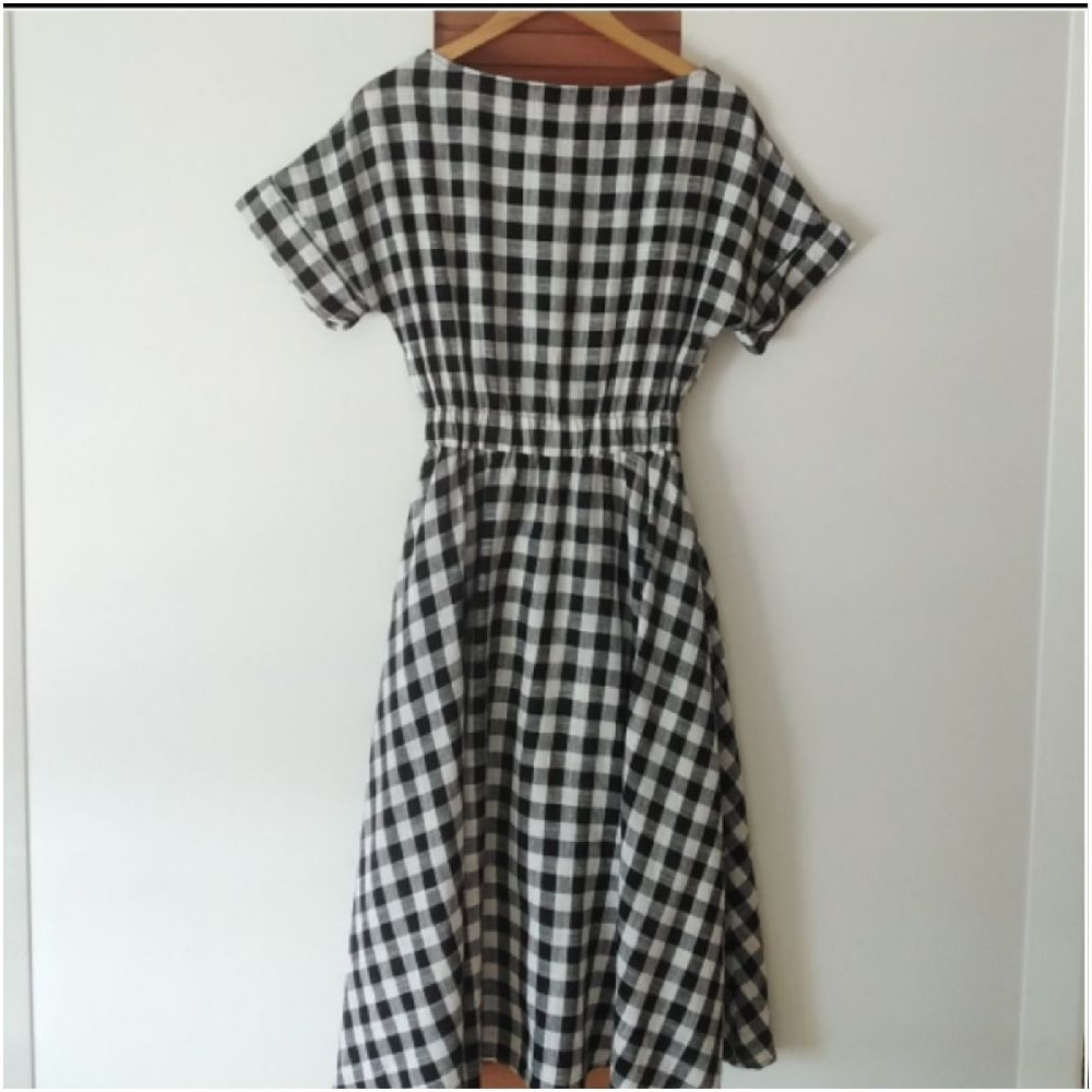 Magnifique robe à carreaux vichy tendance
