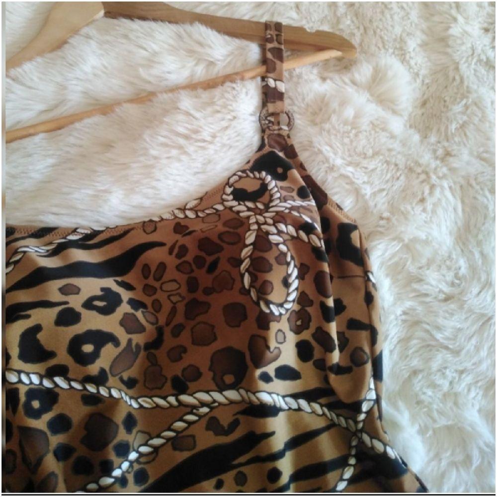 Joli Maillot léopard rembourré imprimé chaîne peu porté