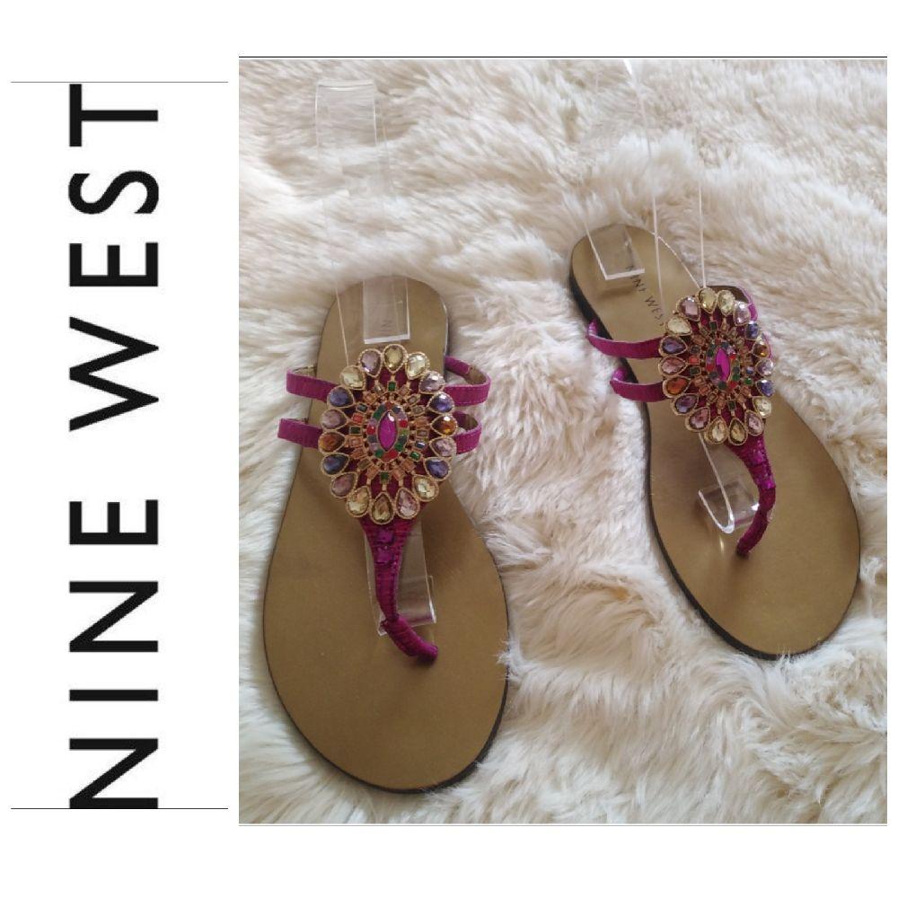 Tong Nine west avec diamond multicolored tt neuf