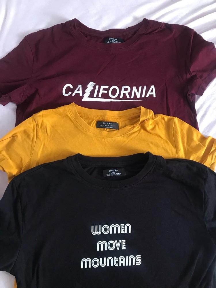 Lot de trois tshirt bershka