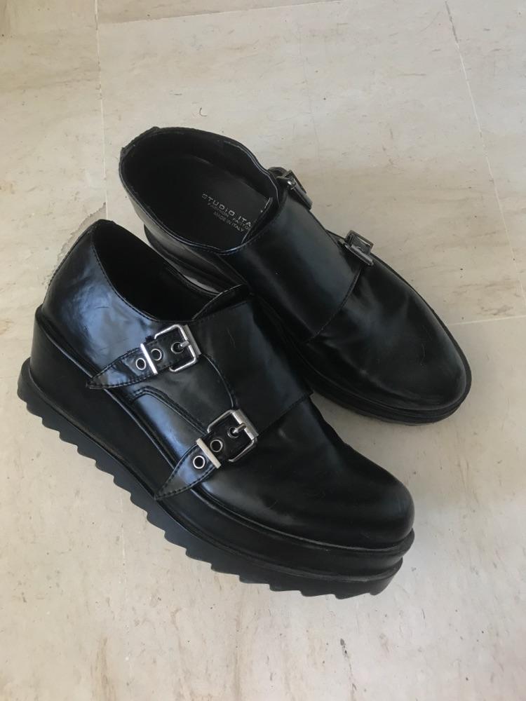 Chaussures platforme noires