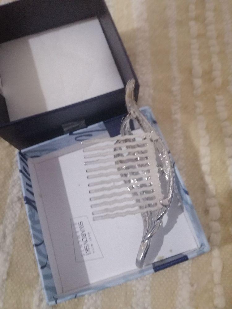 Diadème luxe plaqué argent brilliant avec des cristaux swarovski