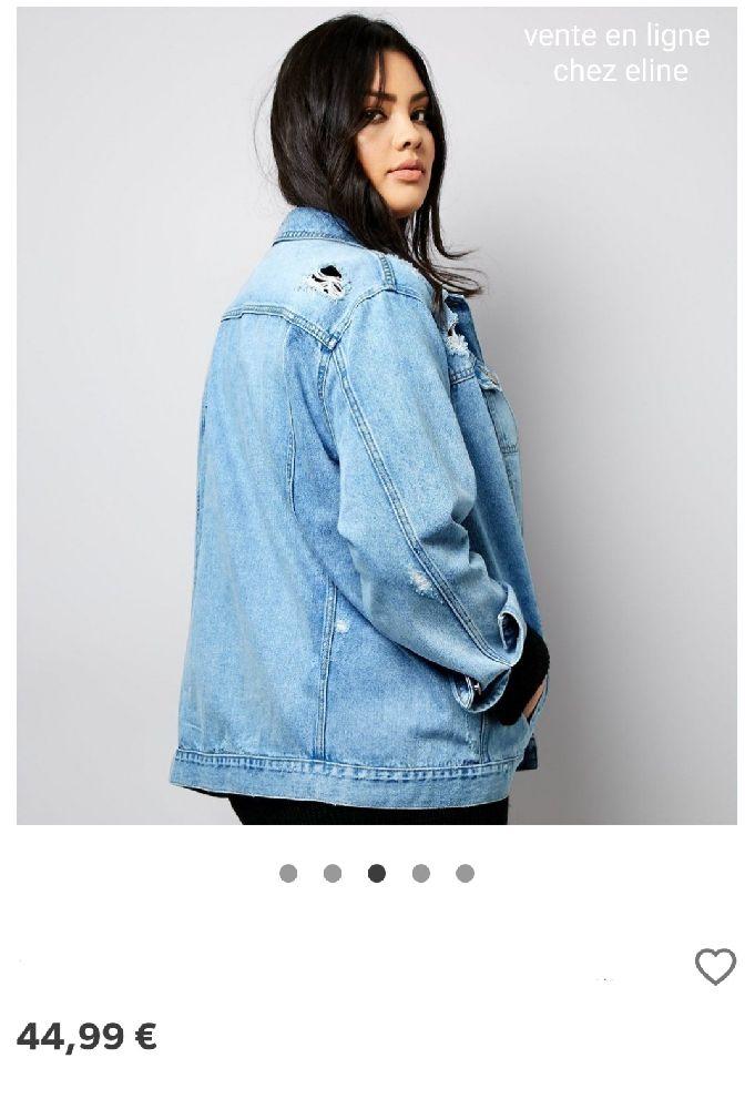 Gilet jeans  Déchirée  Denim & co